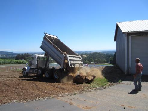 Step 5: Dump boulders next to barn. Repeat.