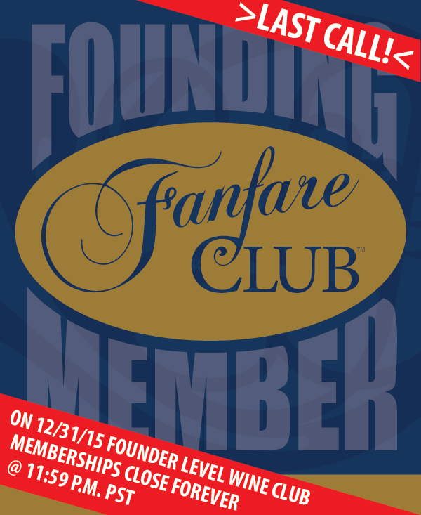 LAST CALL: Fanfare Club Founding Member level closes at Midnight, New Year's Eve.
